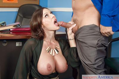 Milf Kendra Lust was drilled hard deep in her shaved pussy at office