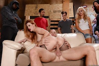 Groupsex scene with a busty milf wife Karlie Montana and her man