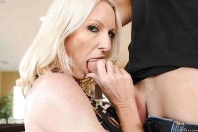 Blond MILF with lovely breasts Emma Starr fucking huge dick