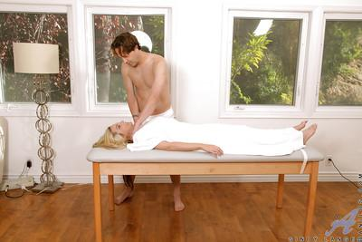 Horny MILF with petite jugs Sindy Lange gets fucked by a masseur