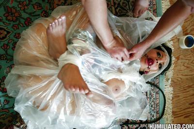 MILF babe Sophia Lomeli gets tortured in bondage and fucked