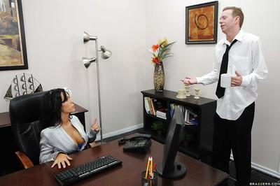 Busty Latina MILF Jenna Presley has fun at the office fucking hardcore