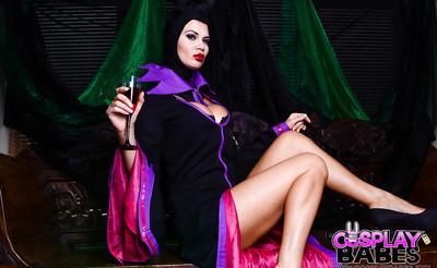 Busty fetish model Jasmine Jae masturbating babe pussy in cosplay uniform
