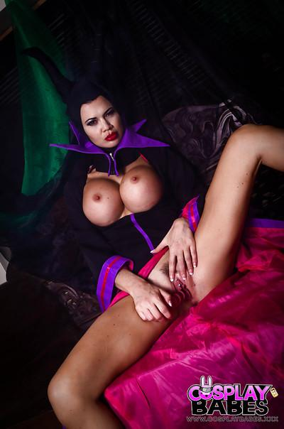 Busty fetish model Jasmine Jae masturbating babe pussy in cosplay uniform