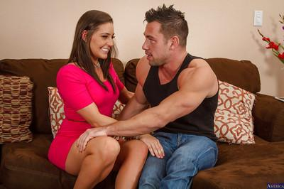 Hardcore milf with nice face Gracie Glam is getting cum in her mouth