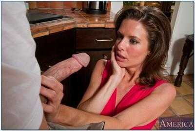 MILF with big melons Veronica Avluv fucking hard with a thick cock
