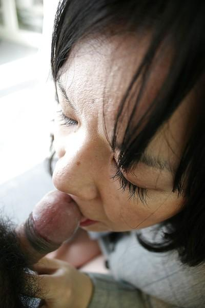 Makiko Nakane gives head and gets her bushy cunt drilled hardcore