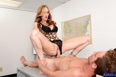 Nasty big tit sex loving Julia is riding that hardcore cock hard