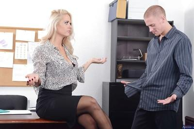 Reality sex scene in office features blonde milf Holly Heart
