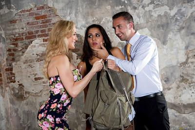 Big tits Latin wife Abbey Lee Brazil and Brandi Love are in a threesome