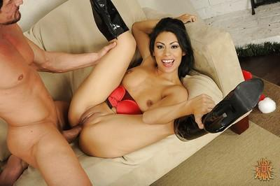 Charming Latina milf Cassandra Cruz is fed by thick dick and hot jizz