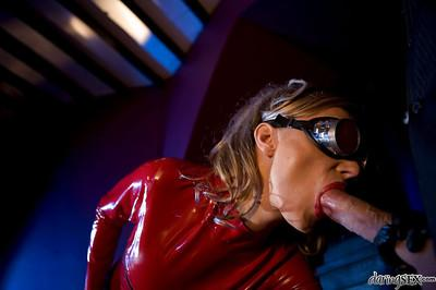 Blonde fetish MILF in latex outfit Diana Doll gets pounded hardcore