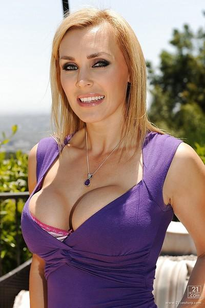 Big tits blondie Tanya Tate in the sweetest posing scene ever
