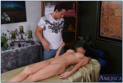 Hot big titted wife Jessica Jaymes seducing her guest for hardcore sex