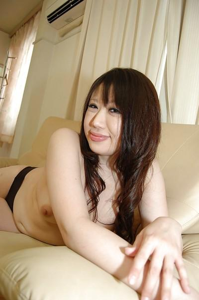 Fatty asian MILF strips down and has some pussy vibing fun
