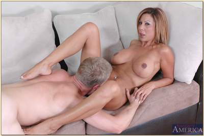 Curvaceous MILF with amazing boobs Demi Delia riding thick cock