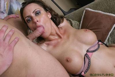 Alluring MILF with graceful curves fucks two boners for her mouth full of cum