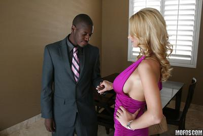 Hot MILF Blake Rose gets her shaved pussy drilled by a big black cock