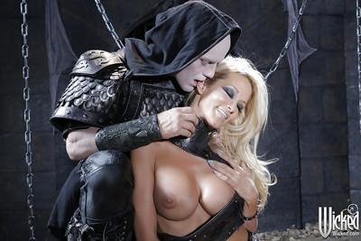 Steaming hot blonde pornstar enjoys hardcore cosplay anal drilling
