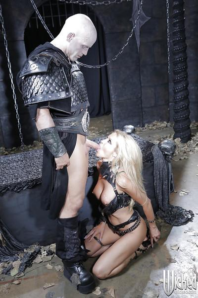 Steaming hot blonde pornstar enjoys hardcore cosplay anal drilling
