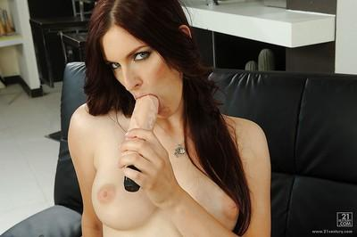 Mira is teasing her European pussy with her favorite sex toys