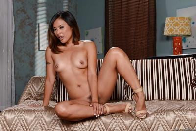 Tanned babe Kaylani Lei is fucking like never before on the cam