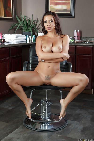 Sultry brunette pornstar Rachel Starr posing non nude in dress