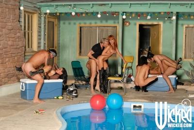 Fuckable MILFs with big tits and hot asses are into hardcore groupsex