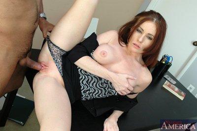 Sizzling MILF teacher Ginger Lea got her tight cunt drilled hardcore