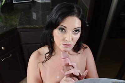 Top-heavy cougars have some pussy licking and big cock fucking fun