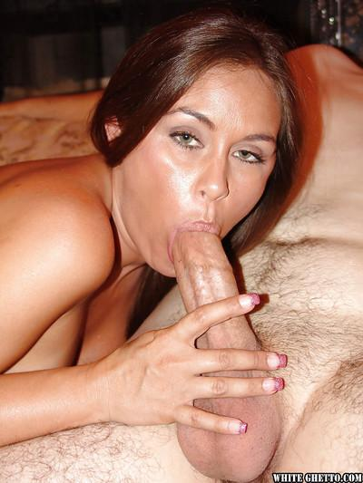 Wide-dicked dudes are filling up holes of sweet tanned Simone Riley