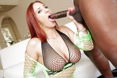 Milf Kelly Divine was drilled by this insane black pipe in her face