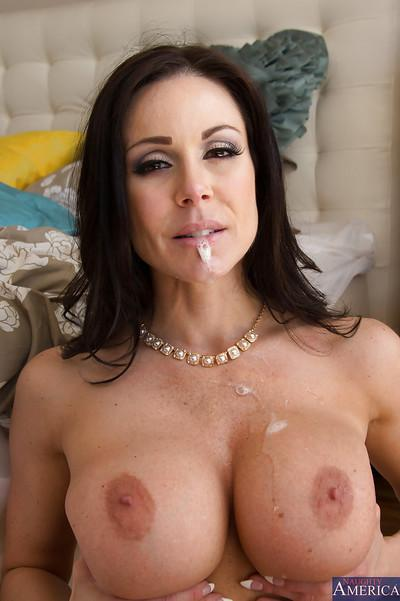 Sexy brunette with huge tits sucks on that hardcore big cock