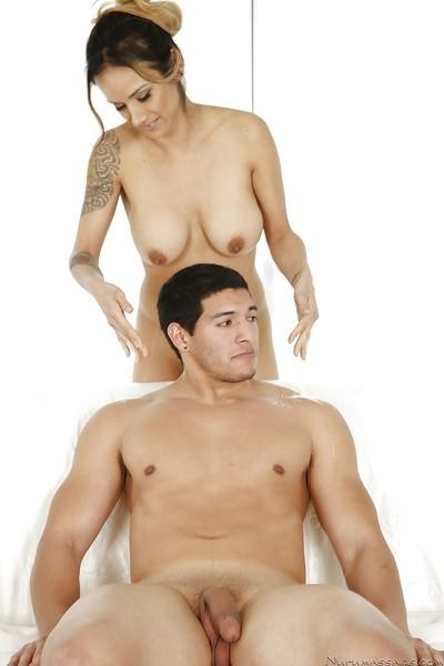 Latina Milf Nadia Styles is pleasing her muscular wet boyfriend