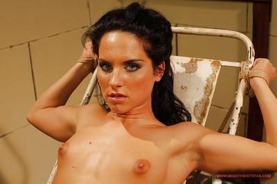 MILF mistress Mandy Bright toys Bettina Dicapri with dildos