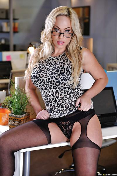 Stunning babe in glasses Olivia Austin takes off her dress