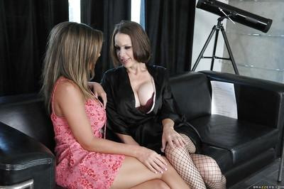 Hot MILFs McKenzie Lee & Kristal Summers stripping and kissing each other