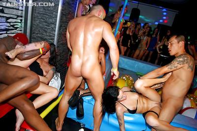Lascivious MILFs get dirty and squirt hard at the wet groupsex party