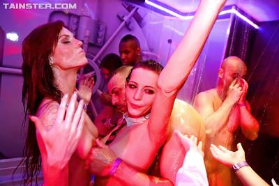 Lascivious european party chicks have some lesbian and straight hardcore fun