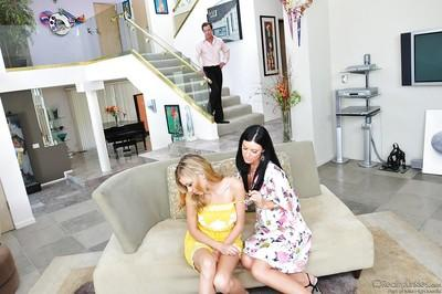Mindless lust of milfs Nicole and India eats them from inside