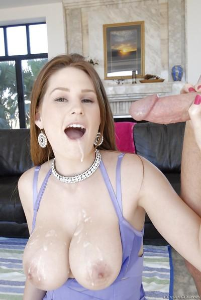 Allison Moore receives a large cumshot after hardcore anal pounding