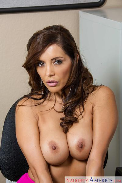 Stunning tanned Latina Francesca Le is playing with her big ass