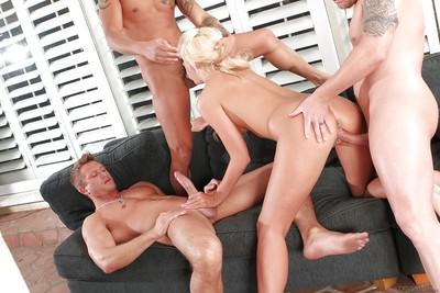Blonde whore Courtney Taylor takes hardcore gangbanging from big cocks