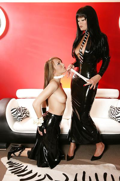 Kinky busty MILF Aradia has some lesbian fun with her babe Charlie Laine