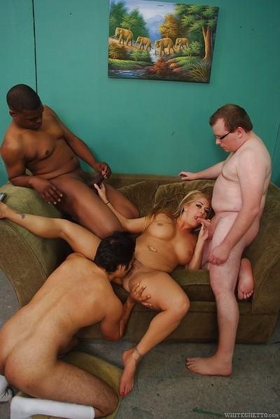 Joclyn Stone gets gangbanged by lots of cocks, both white and black