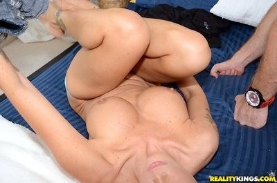 Ravishing blonde cougar gives head and gets fucked for a tasty cumshot