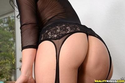 Milf secretary Isabella Madison loves undressing in her office