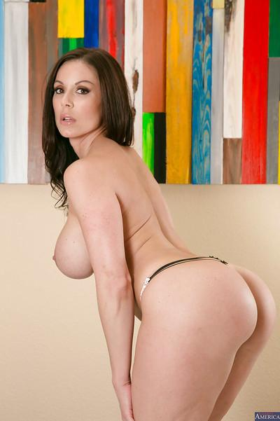 Milf wife with big tits and tight ass Kendra Lust poses in high heels