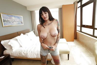 Beauty chick with tattoos Aitana takes off her stunning lingerie