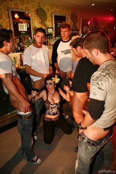 Rough amateur Joanna Angel prefers pleasing several men at the same time